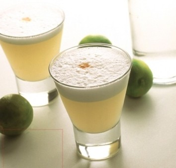 A Pisco Sour, or as I call it, A Never Again.